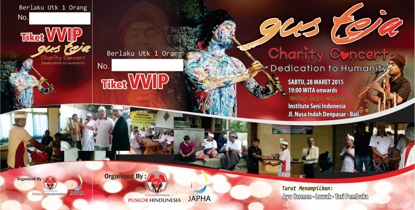 Gus Teja World Music Charity Event